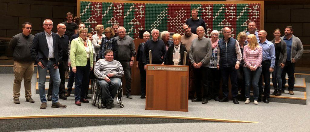 Tönisvorster Schützenbruderschaften zu Gast bei Britta Oellers in Düsseldorf